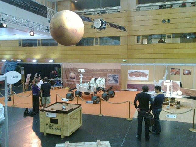 EPSC-DPS Nantes näyttelyaluetta