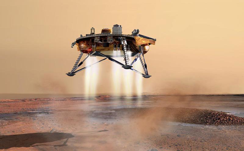 NASAn Phoenix-laskeutuja jonka pohjalle Mars One -säätiö aikoo rakentaa oman marslaskeutujan. Kuva: NASA/JPL.