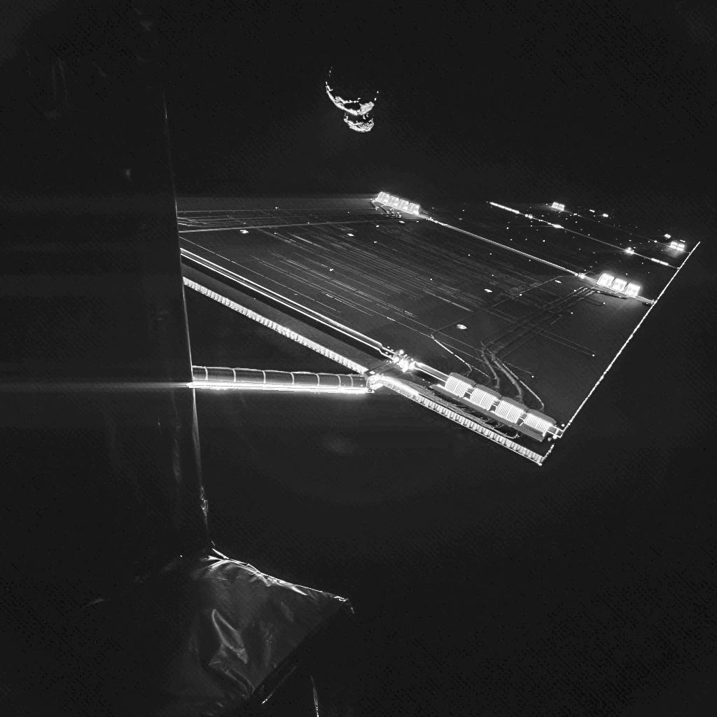 "Rosettan ottama ""selfie"" komeetan 67P/C-G kanssa (7 syyskuuta 2014). Kuva: ESA/Rosetta/Philae/CIVA"