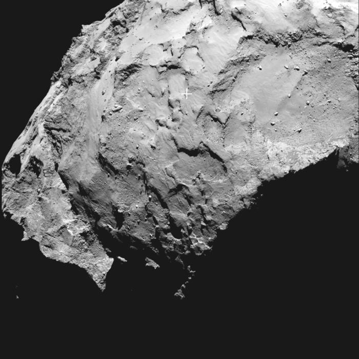 Philaen laskeutumispaikka on valittu. Kuva: ESA.